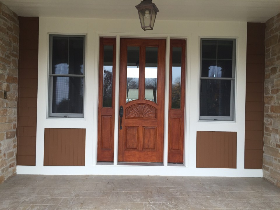 After Picture Mahogany Entry Door In Stillwater Mn Lake Area