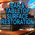 Current Lake Area Painting Bar and Table top Surface Restoration